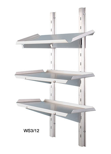 Adjustable Three Tiered Wall Shelving